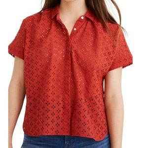 Madewell Eyelet Hilltop Shirt, NWT Med